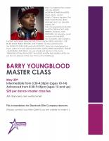 Barry Youngblood Master Hip Hop Class
