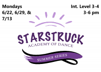 Summer Series: Int. Series Level 3-4 Mondays 3-6 pm