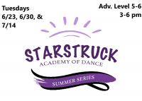 Summer Series: Advanced Series Level 5-6 Tuesday 3-6 pm