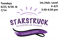 Summer Series: Int/Adv. Series Level 4-4/5 Tuesdays 3:30-6:30 pm
