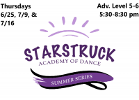 Summer Series: Advanced Series Level 5-6 Thursday 5:30-8:30 pm