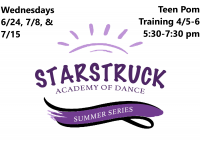 Summer Series: Teen Pom Training Level 4/5-6 Wednesday 5:30-7:30 pm