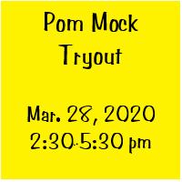 Pom Mock Tryouts